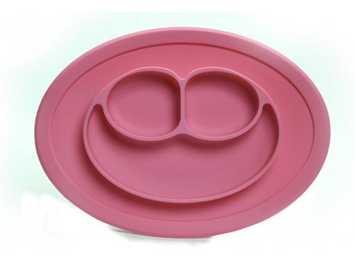 prato de silicone rosa - turminha guara