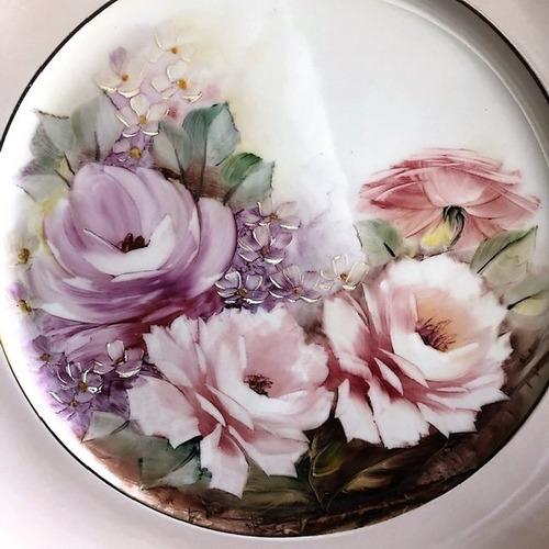 prato decorativo pintado a mão 28cm - p30