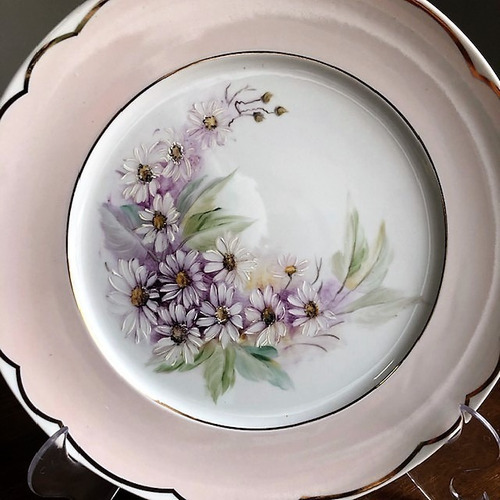prato decorativo pintado a mão 28cm - p32