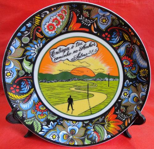 prato decorativo porcelana - salmo -  a1