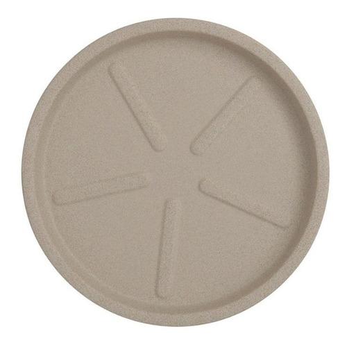 prato em polietileno para vaso redondo 22cm areia