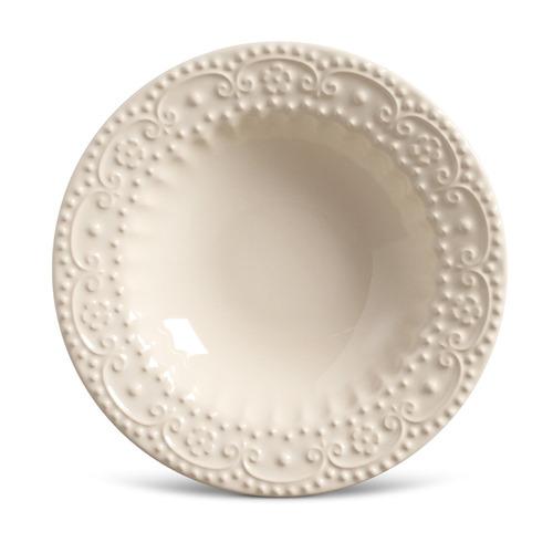 prato fundo esparta cerâmica 6 peças cru porto brasil
