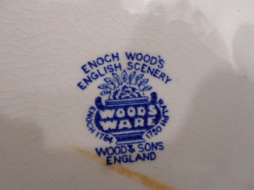 prato fundo porcelana inglesa woods ware