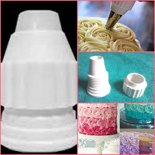 prato giratório para bolo+ kit de bicos p/ confeitar 24 pçs