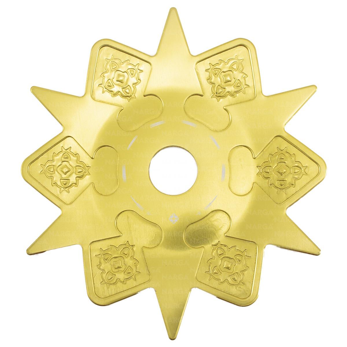 Prato Grande Narguile Amazon Dourado Asterix Original