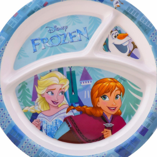 prato infantil com divisória em melamina frozen disney gedex