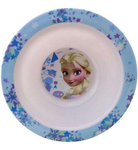 prato infantil fundo tipo tigela frozen elsa disney gedex