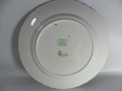 prato inglês de porcelana shelley heather ponte. frete gráti