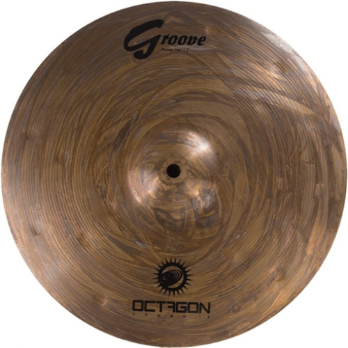 prato para bateria chimbal hi hat 13 groove gr13hh octagon