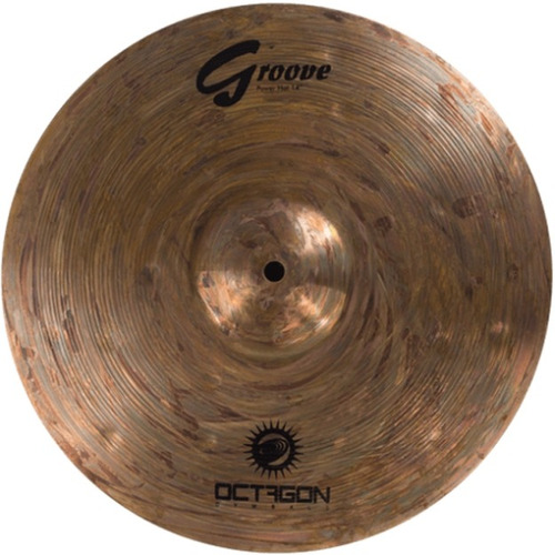 prato para bateria chimbal hi hat 14 groove gr14hh octagon