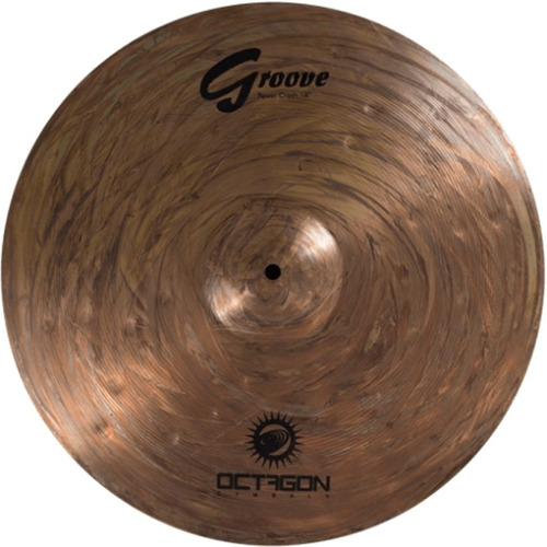 prato para bateria power crash 18 groove gr18pc octagon