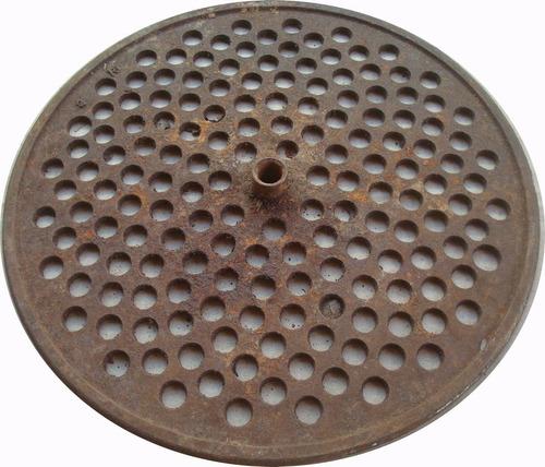 prato para gramofone em ferro fundido 11,55 polegadas