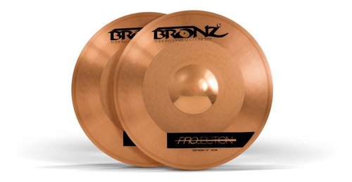 prato p/bateria odery bronz projection series hi-hat 14 b10