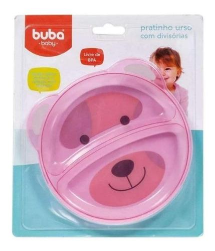 prato pratinho raso infantil c/ divisória refeição bebe buba