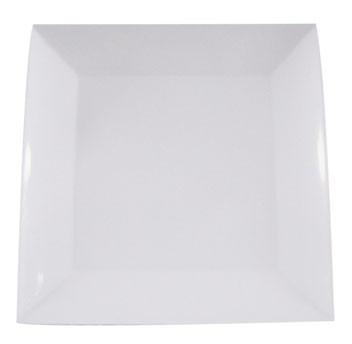 prato quadrado especial branco melamina 29 cm  kit 30 pratos