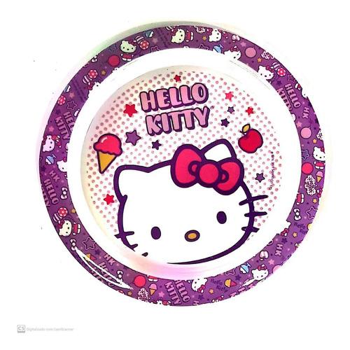 prato raso infantil pratinho hello kitty sanrio - gedex