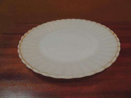prato raso termo-rey vidro opalinado borda dourada