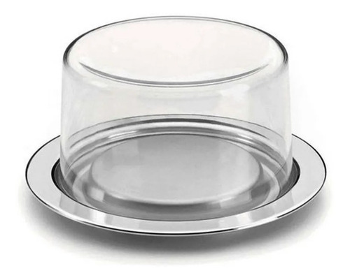 prato suporte para queijo light vision 17cm forma inox