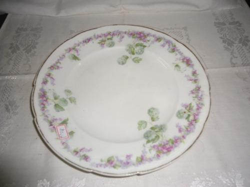 pratos de porcelana alemã estilo decô
