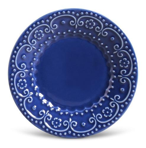 pratos de sobremesa esparta porto brasil color 6 unidades