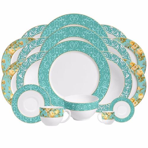 pratos de sobremesa flat elegance porto brasil 6 unidades