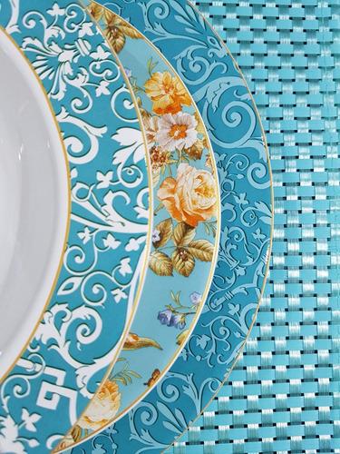 pratos fundos flat elegance porto brasil 22cm com 6 peças
