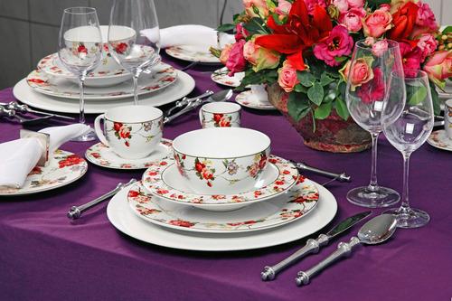 pratos fundos flat verona porto brasil cerâmica com 6 peças