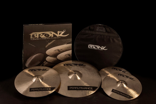 pratos odery bronz performance b20 kit 14/16/20 + bag