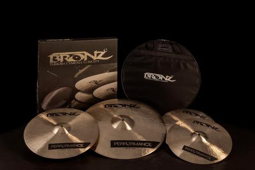 pratos odery bronz performance b20 kit 14/16/20 bag tip zeus