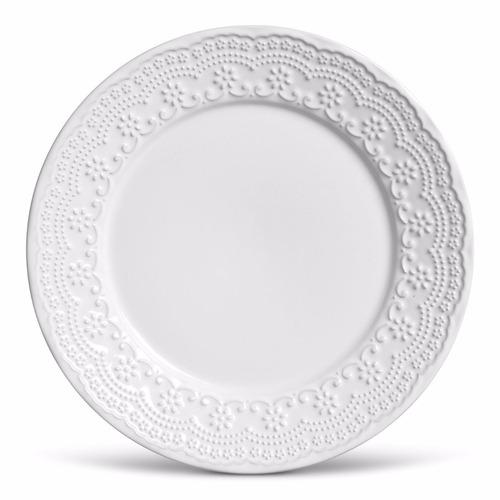pratos porto brasil madeleine branco raso e sobremesa 12 uni