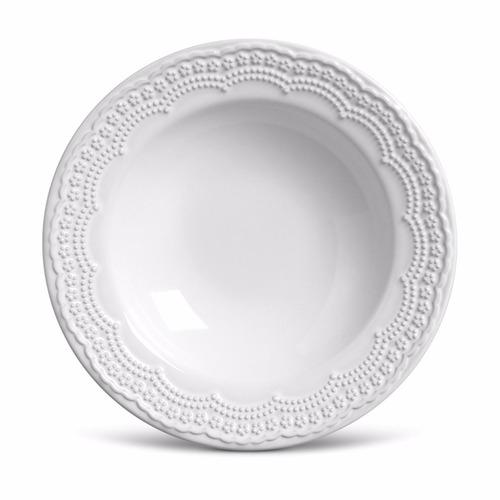 pratos porto brasil madeleine branco raso fundo sobremesa 6u