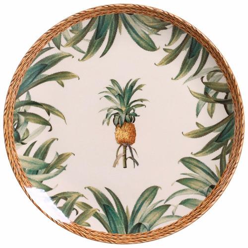 pratos raso fundo sobremesa porto brasil pineapple natural 6