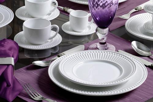 pratos rasos e sobremesa porto brasil roma branco 8 de cada