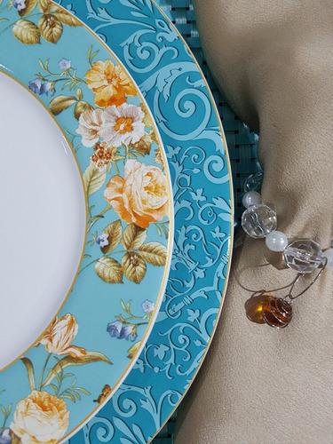 pratos rasos flat elegance porto brasil 27 cm com 6 unidades