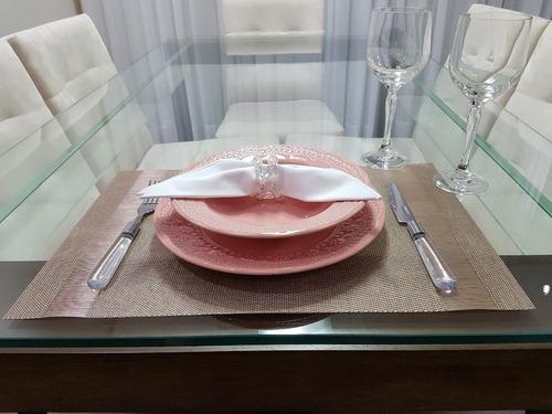 pratos rasos porto brasil madeleine rosa 6 unidades