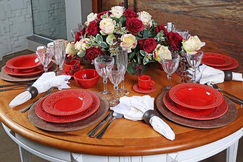 pratos rasos porto brasil madeleine vermelho 6 unidades