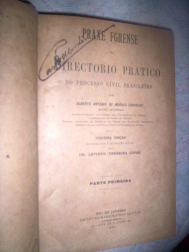 praxe forense directorio pratico  1ª parte 1910