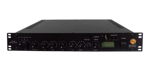 pré-amp integrado c/ amp de linha 70.7v 400w spl 400 sansara
