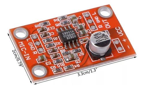 pré amplificador de microfone 2 canais.5 a15 v dc