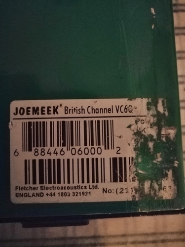 pre amplificador ecualizador joemeek vc6q
