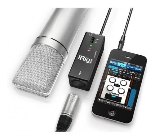 pré amplificador microfone iphone ipad android irig + nf