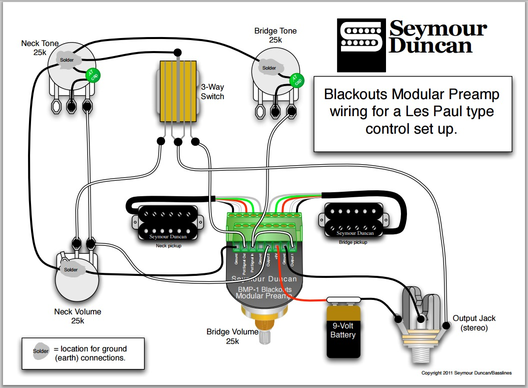 Les Paul Wiring Schematic Seymour Duncan Solutions Blackouts Diagram