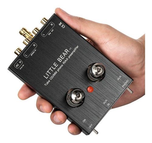 pre-amplificador valvulado toca disco phono aux riaa pre t7
