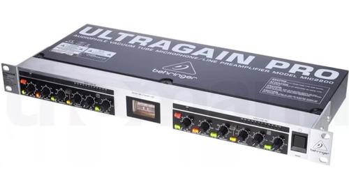 pré-amplificador valvulado ultragain pro mic2200