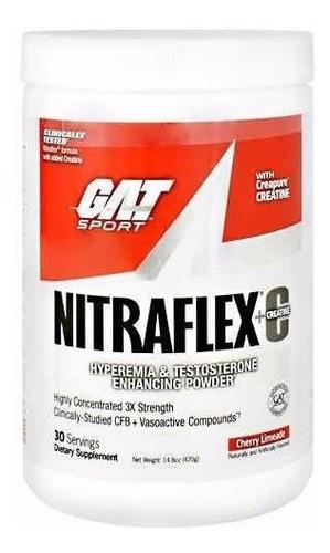 pre entreno gat nitraflex + creatina varios sabores 30 srvs
