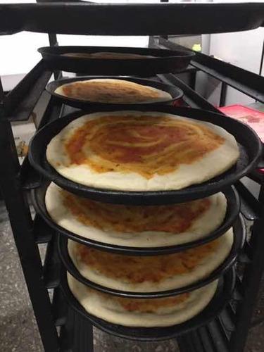 pre-pizzas caseras al horno de barro de 36 cm diámetro