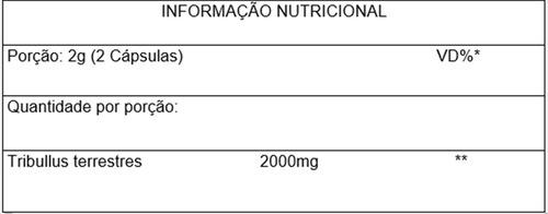 pre-treino beta alanina 500mg + tribulus terrestre 100% puro