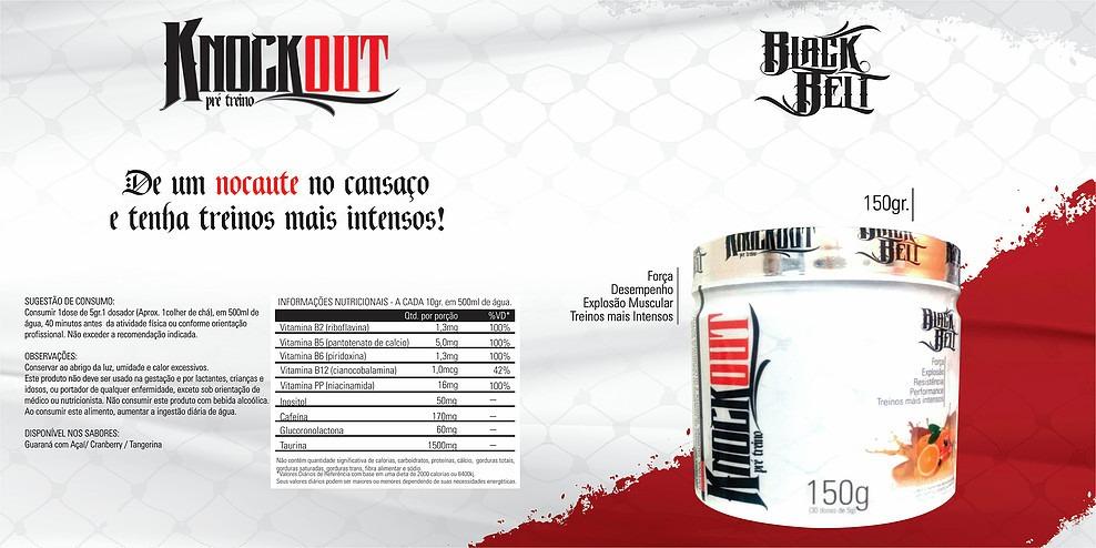 5df5afd5f pre treino knockout 150gr stn black belt - sabores. Carregando zoom.