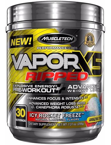pré treino nano vapor x5 ripped (30 doses)-envio imediato