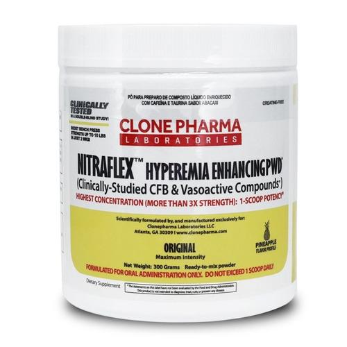 pré treino nitraflex 300 g - clone pharma